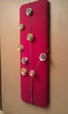 DIY flower branch wall art