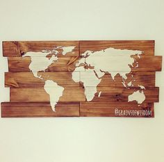 Karlsson world map wood clock map it out pinterest wood clocks wanderlust wooden world map wall art by grainsofwisdom on etsy gumiabroncs Images