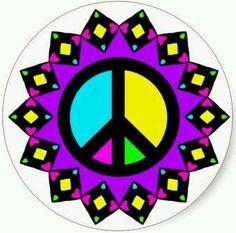 Peace purple love