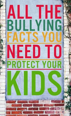 Find all the most important facts about bullying that you need to know to protect your kids and help stop bullies in your community, all in one spot!