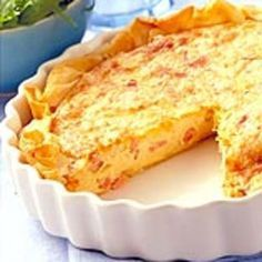 Quiche au bacon et à l'emmental Recette | Weight Watchers