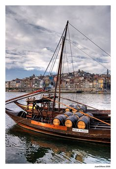 Porto - rabelo happy boats, use for transporting Port Wine barrels, Portugal Douro Portugal, Visit Portugal, Spain And Portugal, Douro Valley, Fc Porto, Port Wine, Europe, The Beautiful Country, Most Beautiful Cities