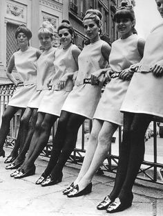 Models showing mini dresses in Amsterdam in 1966.