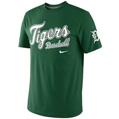 Detroit Tigers Men's St. Patrick's Day Tri-Blend Tee by Nike