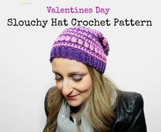 Slouchy Hat crochet pattern Cover