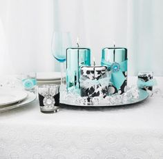 DIY wedding candle centerpiece from Michaels craft store