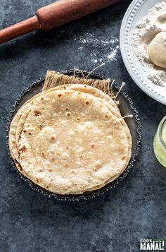 Roti Recipe - How to Make Roti/Chapati Whole Wheat Roti Recipe, Roti Recipe Indian, Soft Roti Recipe, Whole Wheat Flour, Chapati Recipes, Flour Recipes, Vegan Recipes, Pakistani Dishes, Indian Dishes