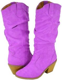 Qupid Muse-01Xx Magenta Faux Suede Women Cowboy Boots ~   4.3 out of 5 stars ~ 48 customer ratings for the brand Qupid ~   Price:$45.99