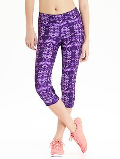 "Women's Old Navy Active Patterned Compression Capris (20"")"