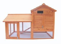 """Deluxe 58"""" Wood Hen Chicken Rabbit Hutch Pet House Coop Cage w Run Large"""