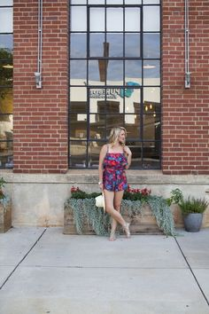 Romping Around Town in a Tularossa Romper. Joie Sandals, Brixton Hat
