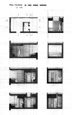 Section monochrome rendering. 'Design of a Prison Cell' Saif Mhaisen. 2012.
