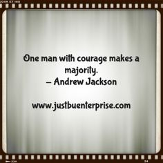 Courage, be the difference
