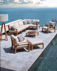Parterre_Ixit Outdoor Modular Teak Lounge by Royal Botania