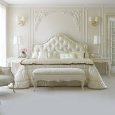 Rococo Button Upholstered Single Bed at Juliettes Interiors, a large collection of Classical Furniture. Luxury Bedroom Furniture, Luxury Bedroom Design, Bedroom Bed Design, Home Bedroom, Luxury Bedding, Bedroom Decor, Gray Bedroom, Master Bedrooms, Upholstered Beds