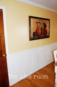 Painted black white bead board wainscoting kitchen for Water resistant wainscoting for bathroom