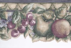 Interior Place - Green Purple Cheery Apple Wallpaper Border, 15.19 € (http://www.interiorplace.com/green-purple-cheery-apple-wallpaper-border/)