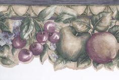 Interior Place - Green Purple Cheery Apple Wallpaper Border, 15.19 € (http://www.interiorplace.com/green-purple-cheery-apple-wallpaper-border/)
