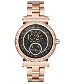 Michael Kors Access Sofie Touchscreen Smartwatch - Women Wrist Watch on YOOX. The best online selection of Wrist Watches Michael Kors Access. YOOX exclusive items of Italian and international designers - Secure payments Stainless Steel Watch, Stainless Steel Bracelet, Bracelet Apple Watch, Or Rose, Rose Gold, Smart Bracelet, Cool Things To Buy, Stuff To Buy, Cool Watches