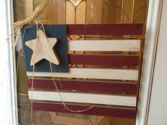 Made this patriotic door hanger a decade ago at Super Saturday.  (Craft day for LDS women). Still love it.
