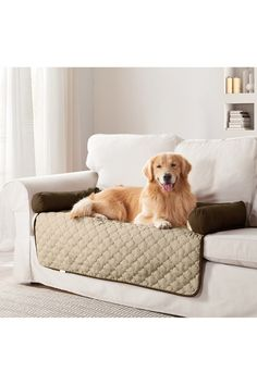 DUCK RIVER Wubba 2-in-1 Dog Bed & Couch Cover - Chocolate/Natural