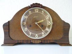 Junghans WW2 1939 German Mantel Mantle Bracket ART DECO Clock