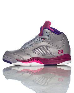 premium selection 736c2 6e653 JORDAN GIRLS Grey Footwear   Basketball 11C Girls Sneakers, Air Max  Sneakers, Sneakers Nike