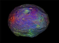 NASA's Dawn mission releases colorful animation of Vesta asteroid