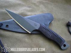 Miller Bros. Blades Custom Neck Knife.Our knives are available in Z-Wear PM, CPM 3V, CPM S35VN, Z-Tuff PM and 5160 steels Miller Bros. Blades Custom Handmade Knives, Swords & Tomahawks.