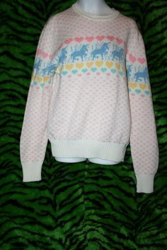 Unicorn sweater!  I'm not even kidding when I say that I love this.