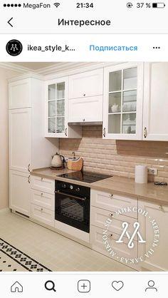 Mutfak modeli Kitchen Cabinet Styles, Kitchen Cabinets Decor, Kitchen Room Design, Living Room Kitchen, Home Decor Kitchen, Rustic Kitchen, Interior Design Kitchen, New Kitchen, Home Kitchens