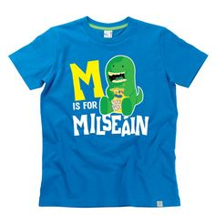 'M is for Milseáin' Kids Alphabet T-Shirt by Hairy Baby Alphabet For Kids, Irish, Tees, Mens Tops, Baby, T Shirt, Supreme T Shirt, T Shirts, Tee Shirt