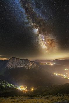 Bove Milky Way over light country by Luca  Cruciani on 500px