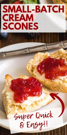 May 2020 - These small-batch cream scones are made with just six ingredients and can be on your breakfast table in under twenty minutes. Breakfast Dishes, Breakfast Recipes, Dessert Recipes, Breakfast Cake, Dessert Bread, Small Batch Baking, Cream Scones, Baking Recipes, Gourmet
