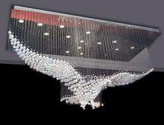 Novo design de grande contemporânea lustre de cristal, Lustre do hotel luz L100 * w55 * H80cm em Candelabro de Luzes & Iluminação no AliExpress.com | Alibaba Group