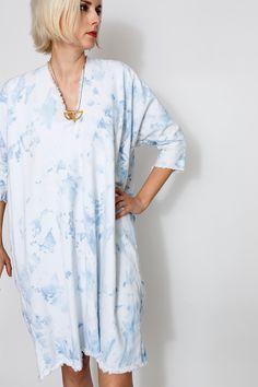 Arashi Muse Dress, Denim | Miranda Bennett Studio