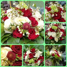 White and red roses for a special bouquet for a corporate lady