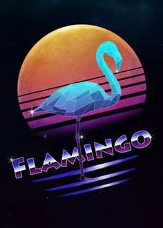 Retro Synthwave retro synthwave geometric animals in a retro vintage cyberpunk neon low poly graphic art. 80s Design, Logo Design, Design Ideas, Flamingo Logo, Retro Waves, New Artists, Cool Artwork, Vintage Posters, Retro Vintage