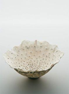 Sabrina Meyns 'Untitled Vessel' (handmade paper, dandelion seeds, & silver)