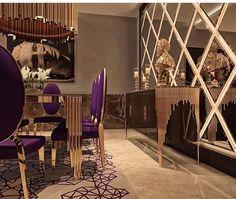 Ideas for bedroom small design mirror Dining Room Walls, Dining Room Design, Living Room Decor, Interior Exterior, Luxury Interior, Interior Design, Classic Interior, Elegant Homes, Luxury Apartments