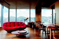 I've got a newfound obsession with the Bouroullec brothers' Ploum sofa for Ligne Roset. Pictured here in the Vivienne Tam suite at HK's Hotel ICON. Loving it!