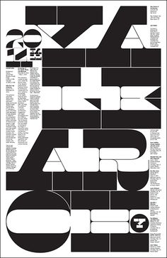 Yale School of Architecture — Fall 2014 Poster. Design by Michael Bierut.