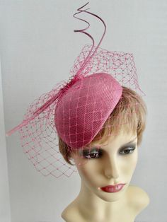 Riley fascinator suitable for weddings Mother of the Bride Beret, Ladies Day, Dusty Pink, Mother Of The Bride, Quilling, Headpiece, Your Hair, Special Occasion, Crochet Hats