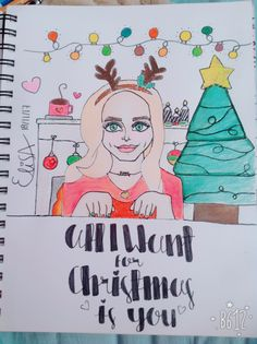 A drawing i made of Dove ❤️ #christmas #dove #alliwantforchristmasisyou