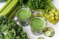 Lean & Mean Green Juice. Kale, celery, cucumber, romaine, green grapes = straight up health in a glass.