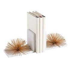 Modern Glam Look Modern Bookends, Sculpture Art, Sculptures, Accent Pieces, Wire, Metal, Bookcase, Desktop, Shelf