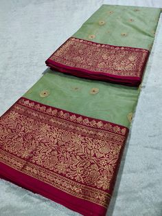 Buy Pista Chanderi Silk Saree SH-293 Online in India #chanderisarees #silk #cotton #handloom #weddings