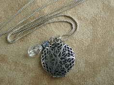 Antique Sterling Silver Locket with Chain