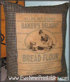 PatternMart.com ::. PatternMart: Printable Feedsack Logo - Baker's Delight Bread Flour - pm