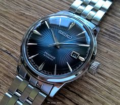 Seiko or Seiko Blue Moon Best Watches For Men, Cool Watches, Seiko Dress Watch, Vape Pen For Sale, Seiko Watches, Analog Watches, Gentleman Watch, Seiko Presage, Beautiful Watches
